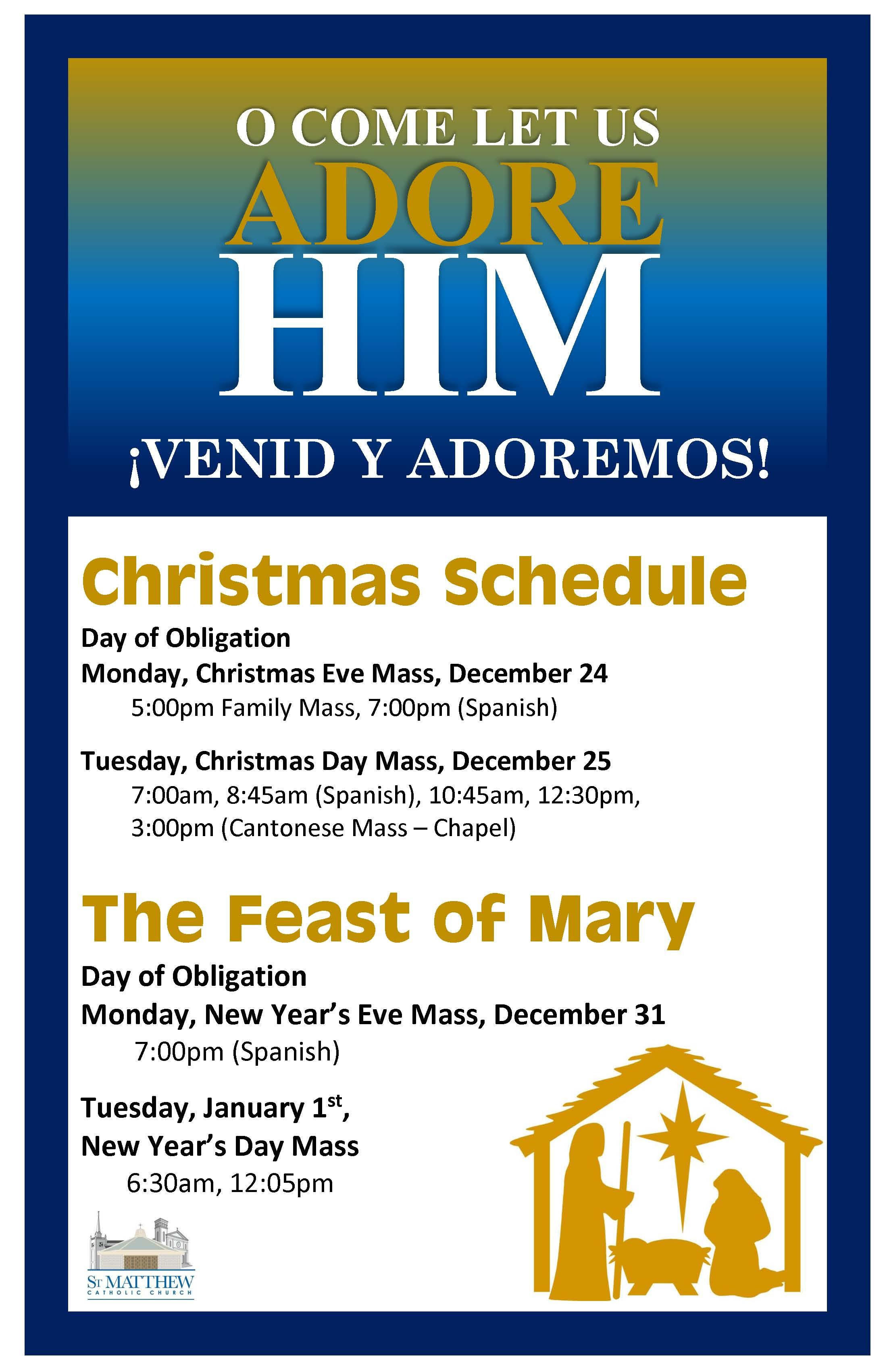 st. matthew catholic church of san mateo - news spotlight: christmas